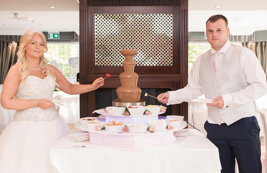 Wedding chocolate fountain hire