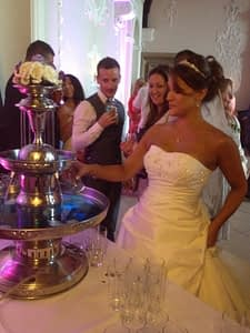 blue wkd wedding drinks fountain