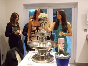 champagne fountain hire house party