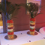 fruit palm trees x 2