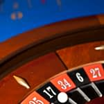 close up roulette wheel and ball