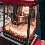 popcorn cart close up image